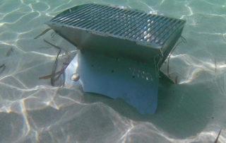 Grillen Unterwasser - der Grill taucht was