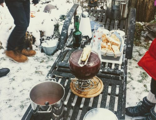 Barbecue in winter